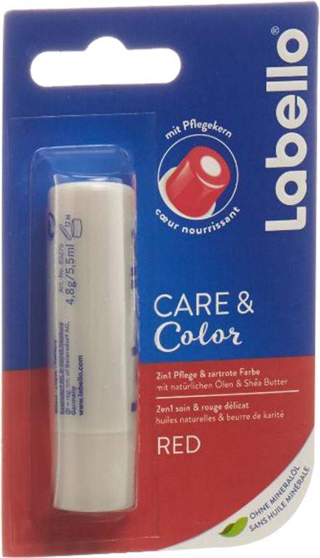 Labello Baume à lèvres Care & Color rouge (85275-07000)